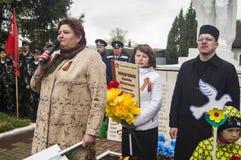 Die festliche Sitzung von kann 9, 2017, in der Kaluga-Region von Russland Lizenzfreie Stockfotografie