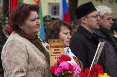 Die festliche Sitzung von kann 9, 2017, in der Kaluga-Region von Russland Lizenzfreie Stockbilder