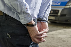 Die Festnahme eines Mannes Stockbilder