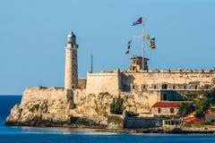 Die Festung auf der Küste von Havana stockfotografie