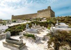 Die Festung von Borj EL Kebir in Mahdia Stockbild