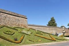 Die Festung von Chaves, Portugal lizenzfreie stockfotos