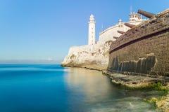 Die Festung von EL Morro in Havana lizenzfreies stockbild