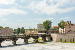 Die Festungsmauern von Carolina White Fortress Stockbilder