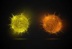 Die Feuerkugel vektor abbildung