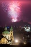 Die Feuerwerke 2016 des neuen Jahres Lizenzfreies Stockbild