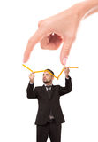 Die Finger der Frau, die Abstand zum Erfolg zeigen Lizenzfreie Stockbilder