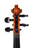 Die Fingerboardvioline auf einem weißen Hintergrund Stockfoto