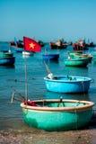 Die Fischerboote in Muine Stockfotografie