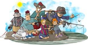 Die fisher-Familie lizenzfreie abbildung