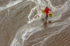 Die fishermans im intertidalen Küstengebiet Stockfotos