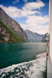 In die Fjorde Stockbilder