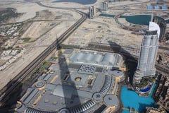 Die Flächenansicht des im Stadtzentrum gelegenen Dubais Lizenzfreie Stockfotografie