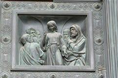 Die Flachreliefs von Charakteren von der Bibel lizenzfreies stockbild