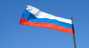 Die Flagge der Russischen Föderation Stockbild