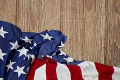 Die Flagge der Vereinigten Staaten Stockfotos