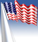 Die Flagge der Vereinigten Staaten von Amerika, häufig gekennzeichnet als die amerikanische Flagge, ist die Staatsflagge der Vere Lizenzfreie Stockfotografie