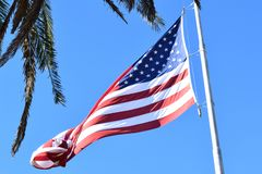 Die Flagge der Vereinigten Staaten von Amerika lizenzfreie stockfotografie