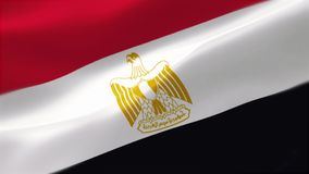 Die Flagge von Ägypten stock abbildung