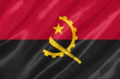 Die Flagge von Angola lizenzfreie abbildung