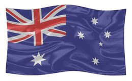 Die Flagge von Australien vektor abbildung