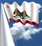 Die Flagge von CaliforniaAs-Jahrzehnten geführt, was der amerikanische Südwesten gewesen war, der unter der Flagge O vereinigt wu stockfotos