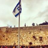 die Flagge von Israel Lizenzfreies Stockfoto