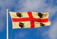 Die Flagge von Sardinien Lizenzfreies Stockfoto
