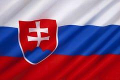 Die Flagge von Slowakei - Europa lizenzfreie stockfotos
