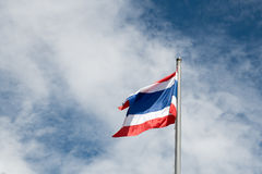 Die Flagge von Thailand Lizenzfreie Stockbilder