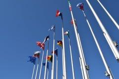 Die Flaggen des EU-Zustandssymbols des Verbands 02 Stockfoto