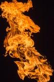 Die Flamme des brennenden Gases Stockbilder