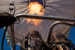 Die Flamme eines Heißluft-Ballons Stockbild