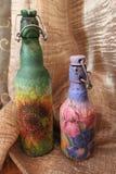 Die Flasche ist handgemacht Stockbild