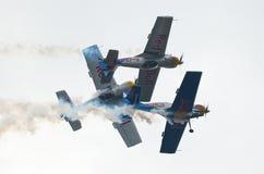 Die Flugwesen-Stiere - Mazury Airshow - Polen stockfotografie