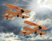 Die Flugzeuge. Stockbild