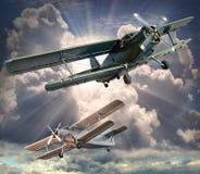 Die Flugzeuge. Stockfoto