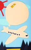 Die Flugzeuge und der Ballon lizenzfreies stockfoto