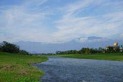 Die Flussseite Stockbild