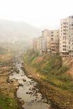 Die Flussufer-Gebäude Lizenzfreie Stockfotografie