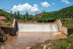 Die Flussverdammungen Stockfoto