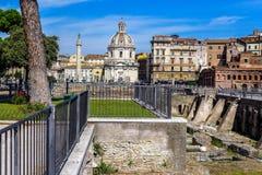 Die Forumruinen in Rom, Italien Lizenzfreie Stockbilder