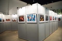 Die Fotoausstellung, die Ausstellungshalle Stockfotografie