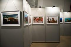 Die Fotoausstellung, die Ausstellungshalle Stockfotos