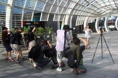 Die Fotografietätigkeit in Shenzhen Stockbild