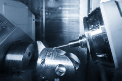 Die Fräsmaschine 5 Achse CNC Lizenzfreies Stockbild