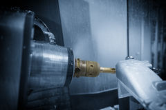 Die Fräsmaschine 5 Achse CNC Stockfotografie