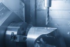 Die Fräsmaschine 5 Achse CNC Stockfotos