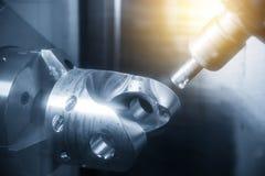 Die Fräsmaschine fünf Achse CNC Lizenzfreies Stockfoto