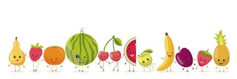 Die Früchte und die Beeren lizenzfreie abbildung